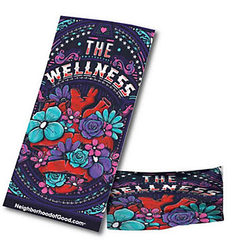Bandana - 19 in. x 10 in. - Wellness (1PC)
