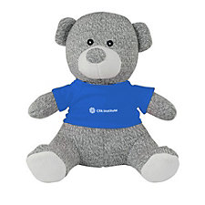 Knitted Teddy Bear with T-Shirt - 8 in.