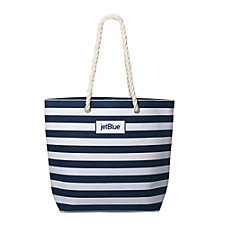 Mariner Chic Poly Cotton Striped Tote - 18W x 15H x 6D