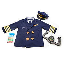 Kids Pilot Role Play Costume Set