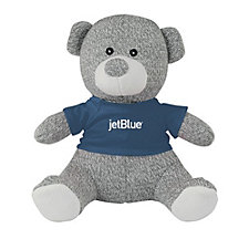 Knit Teddy Bear with T-Shirt - 8 in.