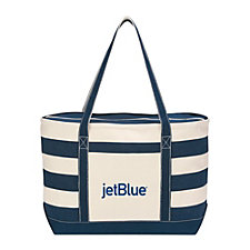 Cotton Nautical Tote Bag - 23 in. x 14 in. x 7 in.