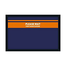 "Floor Impressions Floor Mat - ""Please Wait"""