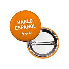 Round Safety Button - 1.5 in. - Hablo Espanol