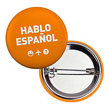 Round Safety Button - 1.5 in. - Hablo Espanol
