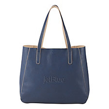 Brooklyn Pebbled Tote Bag - 17.5 in. x 13 in. x 5 in.