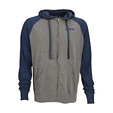Full-Zip Two-Tone Jersey Knit Hoodie