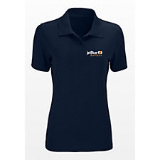 Ladies Omega Solid Tech Mesh Polo - Safety