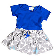 True Blue Airplanes Infant Snapsuit Dress (1PC)