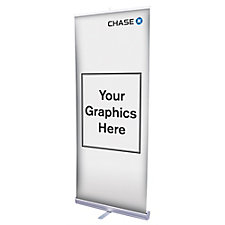 Economy Aluminum Retractor Banner Display Kit - Chase