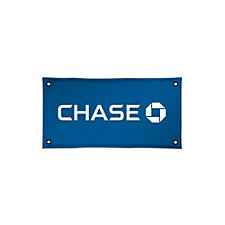 Solvent Display Banner - 2 ft. x 4 ft. - Chase