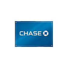 Solvent Display Banner - 4 ft. x 6 ft. - Chase
