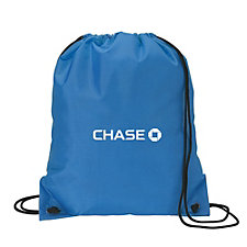 Drawstring Sport Bag - 14 in. x 16.5 in. - Chase