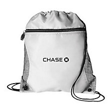 Mesh Pocket Drawstring Sport Bag - 14 in. x 16.5 in. - Chase