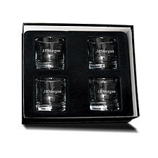 Old Fashioned Glassware Gift Set - 4 Piece - 11 oz. - J.P. Morgan