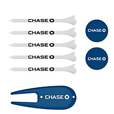 Golf Tees, Divot Fixer and Ball Markers Kit - Chase