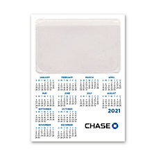 Calendar Magnet with Business Card Slot - Chase