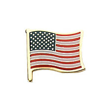 Patriotic Waving Flag Pin