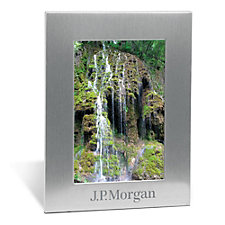 Silver Acclaim Photo Frame - 5 in. x 7 in. - J.P. Morgan