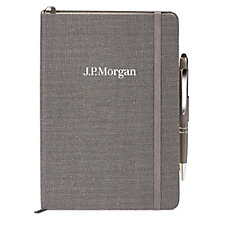 Linen Journal & Pen Combo - J.P. Morgan