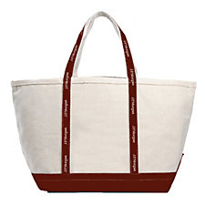 Medium Woven Ribbon Boat Tote - 14 in. x 12 in. x 7.5 in. - J.P. Morgan