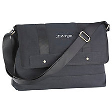 Downtown Messenger Bag - 15 in. x 10 in. x 4 in. - J.P. Morgan