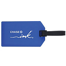 Plastic Business Card Luggage Tag - Ink