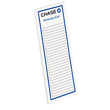 25 Sheet Grocery List Note Pad - 8 in. x 3 in. - Chase