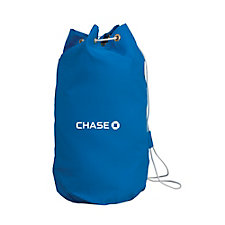 Drawstring Cotton Laundry Bag - 15 in. x 18 in. x 9.5 in.- Chase
