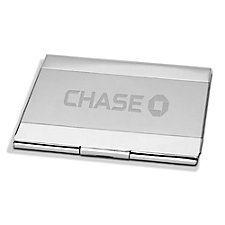 Sonata Silver Business Card Case - 3.75 in. x 2.5 in. x .25 in. - Chase