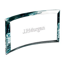 Applause Starphire Glass Award - 8 in. W x 4 in. H x 1 in. D - J.P. Morgan