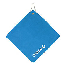 Microfiber Golf Towel with Hook - 11.5 in. x 11.5 in. - Chase