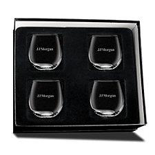 Stemless Red Wine Glasses - Set of 4 - J.P. Morgan
