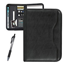 Wall Street Calculator Padfolio with Pen - 10 in. x 13.75 in. - J.P. Morgan