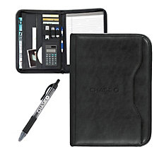 Wall Street Calculator Padfolio with Pen - 10 in. x 13.75 in. - Chase