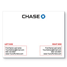 25 Sheet Adhesive Notepads - 4 in. x 3 in. - Personalized