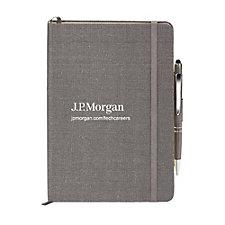Linen Journal and Pen Combo - J.P. Morgan Recruitment