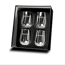 Metro Stemless Glasses - 4 pc. Set - 17 oz. - Chase Business Banking
