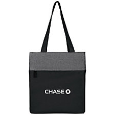 Two Tone Color Block Computer Tote Bag - Chase