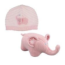 Zubels Elephant Hat & Rattle Set - Chase Business Banking