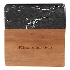 Black Marble and Wood Coaster Set - JPMC