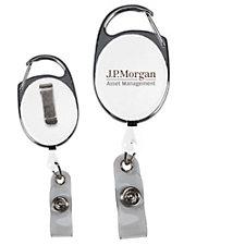 Retractable Badge Reel with Pocket Clip - J.P. Morgan Asset Management