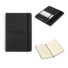 Moleskine Medium Notebook and GO Pen Gift Set - Chase