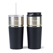 Emery 2-in-1 Double Wall Stainless Tumbler - 16 oz. - J.P. Morgan