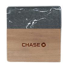 Black Marble and Wood Coaster Set - Chase