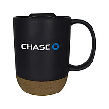 Ceramic Cork Bottom Mug - 14 oz. - Chase
