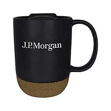 Ceramic Cork Bottom Mug - 14 oz. - J.P. Morgan
