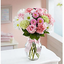 Sweet Baby Girl Floral Arrangement - Small - Chase Business Banking