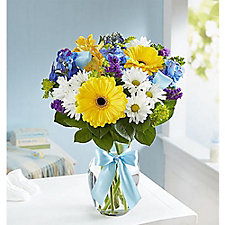 Sweet Baby Boy Floral Arrangement - Small - Chase Business Banking