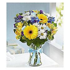 Sweet Baby Boy Floral Arrangement - Medium - Chase Business Banking